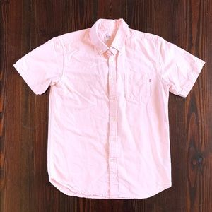 Salmon Obey Short Sleeve Button Up Size Medium